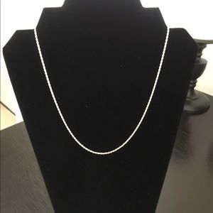 EUC Sterling silver rope necklace